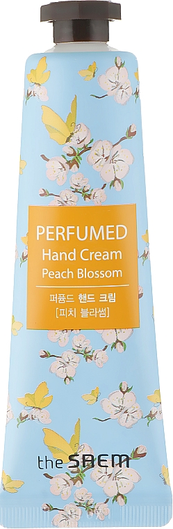 """Парфюмен крем за ръце """"Прасковени цветове"""" - The Saem Perfumed Peach Blossom Hand Cream"""
