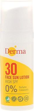 Слънцезащитен лосион за лице - Derma Sun Face Cream SPF30 High — снимка N1