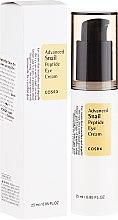 Парфюмерия и Козметика Околоочен крем с пептиди и екстракт от охлюв - Cosrx Advanced Snail Peptide Eye Cream