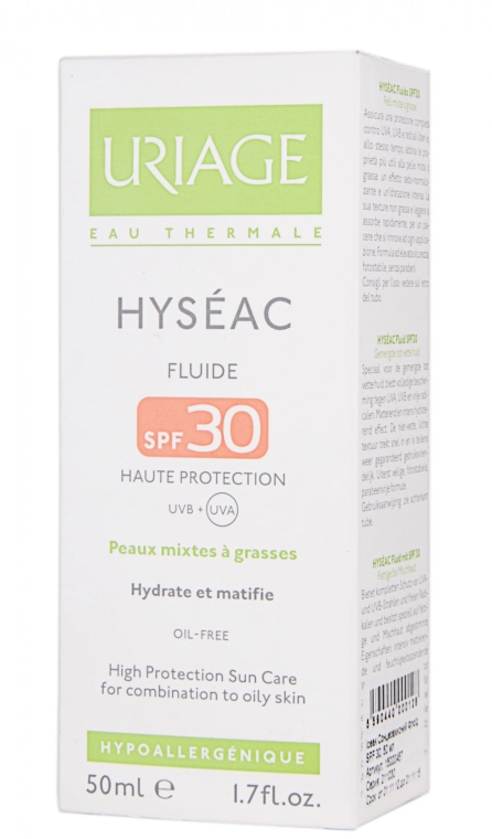 Слънцезащитен флуид за лице SPF 30 - Uriage Hyseac SPF 30 Fluid — снимка N2