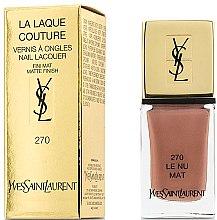 Парфюми, Парфюмерия, козметика Матов лак за нокти - Yves Saint Laurent La Laque Couture The Mats