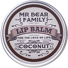 Парфюми, Парфюмерия, козметика Балсам за устни - Mr. Bear Family Lip Balm Coconut