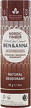 Парфюмерия и Козметика Дезодорант на базата на сода с аромат на северна гора - Ben & Anna Natural Soda Deodorant Paper Tube Nordic Timber