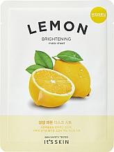 Парфюмерия и Козметика Тонизираща памучна маска за лице с лимон - It's Skin The Fresh Mask Sheet Lemon