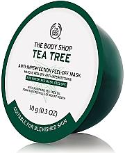 Парфюмерия и Козметика Алгинатна маска за лице с чаено дърво - The Body Shop Tea Tree Anti-Imperfection Peel-off Mask (мини)