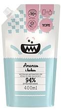 """Парфюмерия и Козметика Антибактериален сапун за деца """"Ананас и кокос"""" - Yope (пълнител)"""