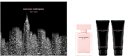 Парфюми, Парфюмерия, козметика Narciso Rodriguez For Her - Комплект (edt/50ml + b/lot/75ml + sh/gel 75ml)
