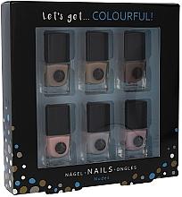 Парфюмерия и Козметика Комплект лакове за нокти - Cosmetic 2K Let'S Get Colourful! Nudes Nail Polish (nail/laquer/6х5ml)