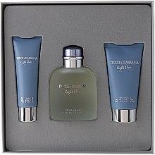 Парфюми, Парфюмерия, козметика Dolce & Gabbana Light Blue Pour Homme - Комплект (edt 125 + sh/g 50 + a/sh balm 75)
