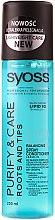 Парфюми, Парфюмерия, козметика Спрей балсам за мазна в корените и суха в крайщата коса - Syoss Pure&Care Balancing Spray