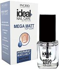 Парфюми, Парфюмерия, козметика Матиращ топ лак за нокти - Ingrid Cosmetics Ideal+ Nail Care Definition Mega Matt Top Coat