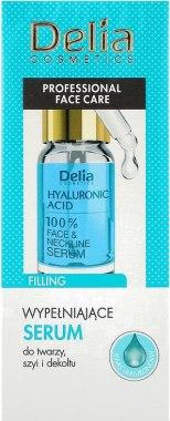 Интензивен запълващ серум против бръчки с хиалуронова киселина за лице, шия и деколте - Delia Face Care Hyaluronic Acid Face Neckline Intensive Serum