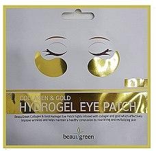 Парфюмерия и Козметика Хидрогелни пачове за очи - BeauuGreen Collagen & Gold