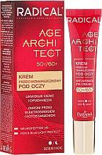 Парфюмерия и Козметика Крем против бръчки и тъмни кръгове за околоочния контур - Farmona Radical Age Architect Anti Wrinkle Eye Cream 60+