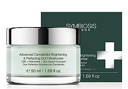 Парфюмерия и Козметика Изсветляващ овлажняващ крем за лице с канабидиол - Symbiosis London Advanced Cannabidiol Brightening & Perfecting DUO Moisturiser