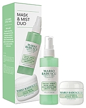 Парфюмерия и Козметика Комплект за лице - Mario Badescu Cucumber Mask & Mist Duo Set (маска/56g+спрей/118ml)