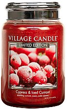 Парфюми, Парфюмерия, козметика Ароматна свещ в бурканче - Village Candle Cypress & Iced Currant Glass Jar