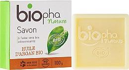 Парфюмерия и Козметика Натурален сапун с арганово масло - Biopha Organic Soap Organic Argan Oil