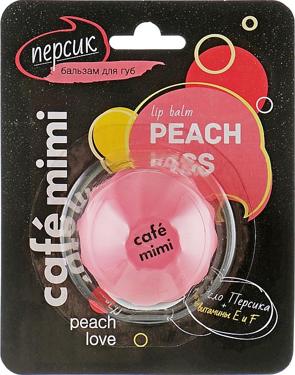 "Балсам за устни ""Праскова"" - Cafe Mimi Lip Balm Peach Kiss — снимка N1"
