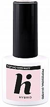Парфюми, Парфюмерия, козметика Матов топ лак за нокти - Hi Hybrid Top No Wipe Matt