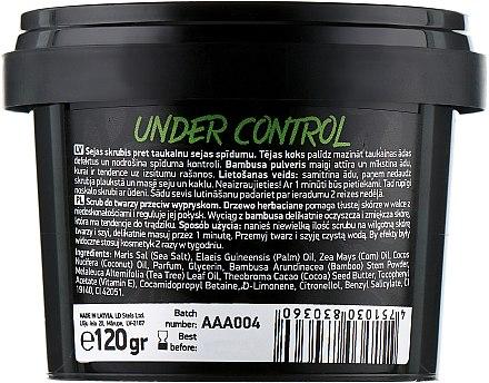 """Скраб за лице против несъвършенства с масло от чаено дърво и бамбуков прах """"Under Control"""" - Beauty Jar Anti-Blemish Scrub For Face — снимка N2"""