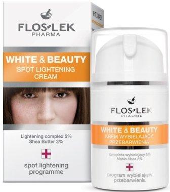 Изсветляващ крем за пигментни петна - Floslek White & Beauty Spot Lightening Cream — снимка N1