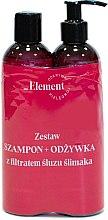 Парфюми, Парфюмерия, козметика Комплект за коса - Vis Plantis Element Snail Slime Filtrate (шампоан/150ml+балсам/150ml)