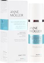 Парфюмерия и Козметика Хидратиращ гел за лице - Anne Moller Blockage 24h Moisturizing Defender Gel