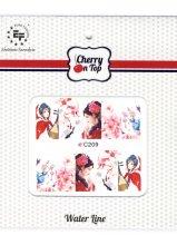 Парфюми, Парфюмерия, козметика Водни стикери за нокти, C209 - Euro Fashion Cherry On Top Water Line