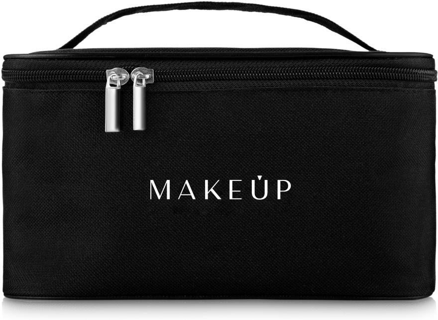 Козметична чанта, черна - MakeUp