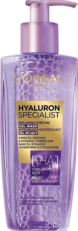 Измиващ гел за лице с хиалурон - L'Oreal Paris Hyaluron Expert