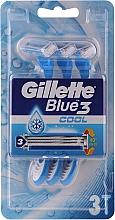 Парфюмерия и Козметика Самобръсначки - Gillette Blue 3 Cool 3бр.