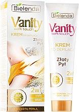 """Парфюмерия и Козметика Крем-депилатоар 2в1 """"Златен прах"""" - Bielenda Vanity Soft Touch Depilatory Cream"""
