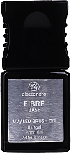 Парфюмерия и Козметика Основа за нокти със стъклени влакна - Alessandro International UV/LED Brush On Fiber Base