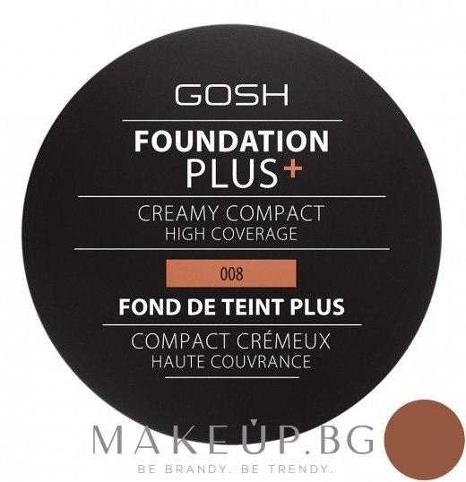 Компактен фон дьо тен - Gosh Foundation Plus + Creamy Compact High Coverage — снимка 08 - Golden
