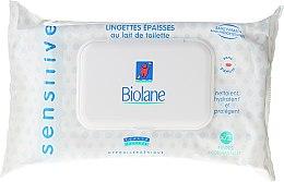 Парфюми, Парфюмерия, козметика Детски мокри кърпички за чувствителна кожа - Biolane Baby Napkins Sensitive