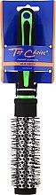 """Парфюми, Парфюмерия, козметика Четка за коса """"Neon"""" кръгла 27мм, 63701, черна със зелено - Top Choice"""