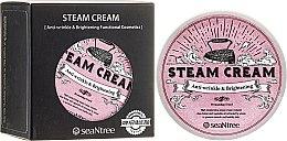 """Парфюмерия и Козметика Крем за лице с масло от шеа """"Розов кит"""" - Seantree Steam Cream"""