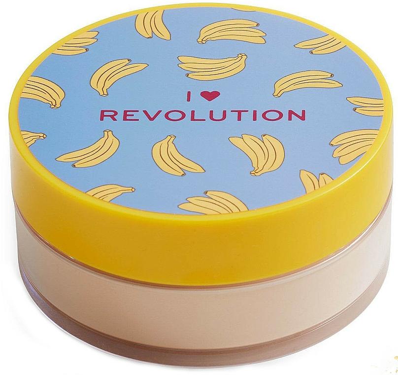 Насипна бананова пудра за лице - I Heart Revolution Loose Baking Powder Banana