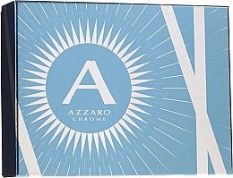 Парфюмерия и Козметика Azzaro Chrome - Комплект (тоал. вода/100ml + шамп./100ml + афтър. балс./50ml)