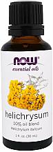Парфюмерия и Козметика Етерично масло от безсмъртниче - Now Foods Essential Oils Helichrysum Oil Blend