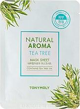 Парфюми, Парфюмерия, козметика Маска за лице от плат с екстракт от чаено дърво - Tony Moly Natural Aroma Tea Tree Oil Mask