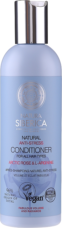 Балсам за обем и блясък на косата - Natura Siberica Natural Anti-Stress Conditioner