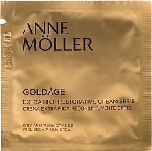 Парфюмерия и Козметика Възстановяващ крем за лице - Anne Moller Goldage Extra Rich Restorative Cream SPF15 (мостра)