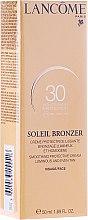 Парфюми, Парфюмерия, козметика Слънцезащитен крем за лице - Lancome Soleil Bronzer Smoothing Protective Cream SPF 30