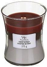 Парфюмерия и Козметика Ароматна свещ в чаша - WoodWick Hourglass Trilogy Candle Forest Retreat