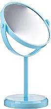 Парфюмерия и Козметика Огледало със стойка , кръгло, синьо 85703 - Top Choice Beauty Collection Mirror