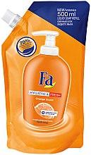 Парфюмерия и Козметика Течен сапун с аромат портокал - Fa Hygiene & Freshness Orange Scent Soap (пълнител)
