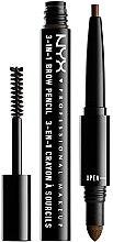 Парфюмерия и Козметика Многофункционален молив за вежди - NYX Professional Makeup 3-in-1 Brow Pencil
