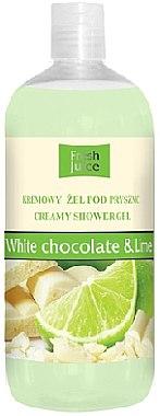 """Душ гел-крем """"Бял шоколад и лайм"""" - Fresh Juice Sweet Energy White Chocolate & Lime"""
